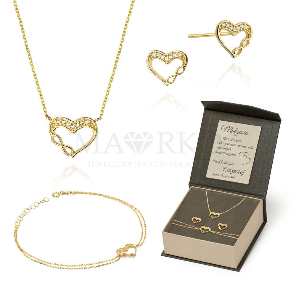 komplet biżuterii z bransoletką i naszyjnikiem